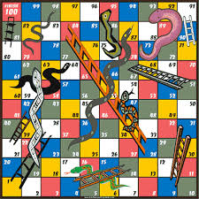 Diagram 1 The Snakes And Ladders Game Board Players Start At Square Advance Numerically As Decided By Dice Rolls