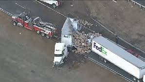 100 Fedex Truck Accident Hundreds Of Packages Spill Out Onto NJ Highway After FedEx Crash