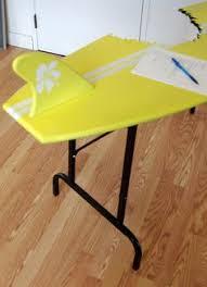 Decorative Surfboard With Shark Bite by Surfboard Desk Shark Bite Folding Legs Mid Century Furniture