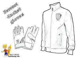Coloring Books Page Of Ferrari Gloves And Jacket At YesColoring