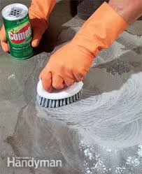 how to remove paint from concrete and other stains family handyman