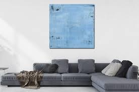 großes kunst bild dekorativ malerei blau abstrakt nr 1342