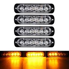 4X AMBER 6 LED Car Truck Emergency Beacon Warning Hazard Flash ... 36w Amber Truck 12led Flash Emergency Hazard Warning Strobe Light Red Blue 16 Led Lights High Intensity Car Trailer Side Marker Strobe Lights 612 Flashing White Recovery Beacon 18led Firefighter Vehicle Dash Can Civilians Use In Private Vehicles Xyivyg 54 Bars Deck China Power Super Bright Tractor 3 Inch 45w Light V16 For American Simulator Ultra Slim Waterproof 18w 6led Surface Mount Minibrights Watt Amber Markerstrobe Peterbilt Tow