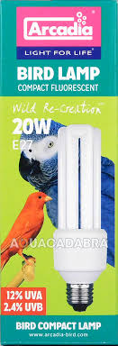 arcadia bird l compact fluorescent 20w e27 light bulb 2 4 uvb