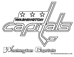 Washington Capitals Coloring Pages Page