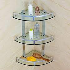 handtuchhalter space aluminium drei glas ecken dusche