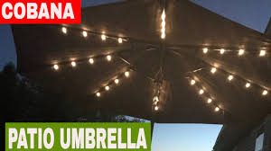 Solar Lighted Patio Umbrella by Cobana Patio Umbrella W Solar Led Lights Review Youtube