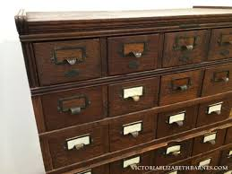 Lets Start The Year Out Right Giant Antique Card Catalog