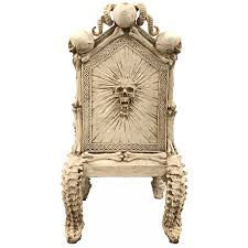 Skull Throne Gothic Chair - Gothic Home Decor, Gothic Furniture Gothic Revival Oak Glastonbury Chair Sale Number 2663b Lot Antique Carved Walnut Throne Arm Bucks County Estate Truly Stunning Medieval Italian Stylethrone Scissor X Large Victorian A Pair Of Adjustable Recling Oak Library Chairs Wick Tracery Cathedral My Parlor Room Purple Reproduction Shop Pair Jacobean Style Armchairs In Streatham Charcoal Gray Painted Rocking By Just The Woods Wicker Seat Side At
