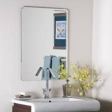 Restoration Hardware Mirrored Bath Accessories by Décor Wonderland Frameless Leona Wall Mirror 23 5w X 31 5h In