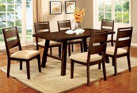 100 Dining Room Chairs With Oak Accents Dwayne CM3915T 7Pc Set Furniture Mattress Los Angeles And