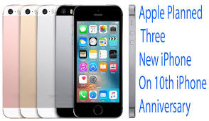 Apple Planned Three New iPhone 10th iPhone Anniversary