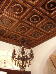ceiling interesting ceiling decoration with brown faux tin