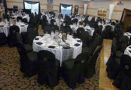 Chair Covers By Sylwia Inc by Gotcha Covered Linens Black Chair Covers Black Sash Bands And