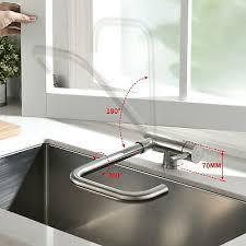 360 vorfenster klappbar wasserhahn küchenarmatur