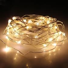 String Lights INVESCH 10 Ft 30 Beads LED Warm White Rope Lights