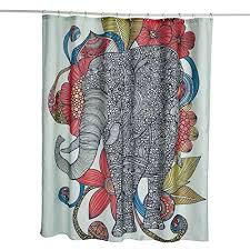 Lebather Fabric Shower Curtains Elephant Bohemian Print Design Waterproof Decorative Bathroom Curtain For Indoor Outdoor 71