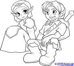 The Legend Of Zelda Young Link Coloring Pages