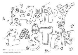 Happy Easter Colouring Page