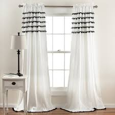 Lush Decor Window Curtains by Lush Decor Aria Pom Pom Window Curtain Panel Free Shipping On