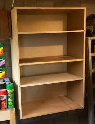 custom diy wood wall mounted garage storage shelves without door