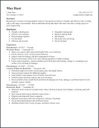 Housekeeping Resume Sample From Self Employed Template Cv