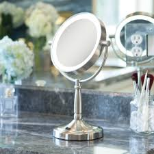 zadro 7 cordless dual sided led lighted vanity mirror