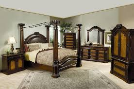 deluxe king size canopy bedroom sets at aarons and discount king