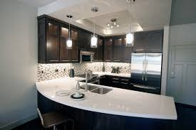 Espresso Kitchen Decor Cabinets With White Quartz Decoration Ideas