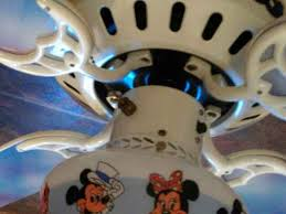 mickey and minnie mouse disney 1988 ceiling fan model 4226sp by
