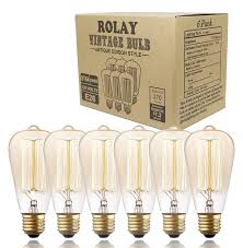 vintage edison bulbs rolay 60w dimmable industrial pendant
