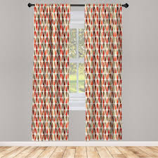 gardine fensterbehandlungen 2 panel set für wohnzimmer schlafzimmer dekor abakuhaus geometrisch 70er jahre retro stil kaufen otto