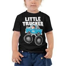 100 Monster Truck T Shirts Little Er Blue Oddler Short Sleeve Shirt Hot