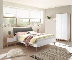 schlafzimmer set komplett 3 teilig merle 140x200cm eiche riviera weiß grau