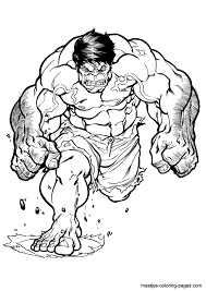 Hulk Coloring Pages Kids 2