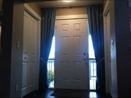 Front Door Sidelight Curtain Rods by Sidelight Curtains Modern Sidelight Curtains Youtube