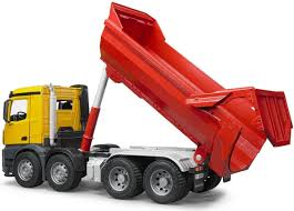 The MB Arocs Halfpipe Dump Truck From The Bruder Truck Collection ...