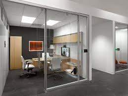 Steelcase Private office Light wood furniture dark accent wall