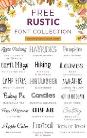 Sep 25 Free Font Collection Rustic Fonts