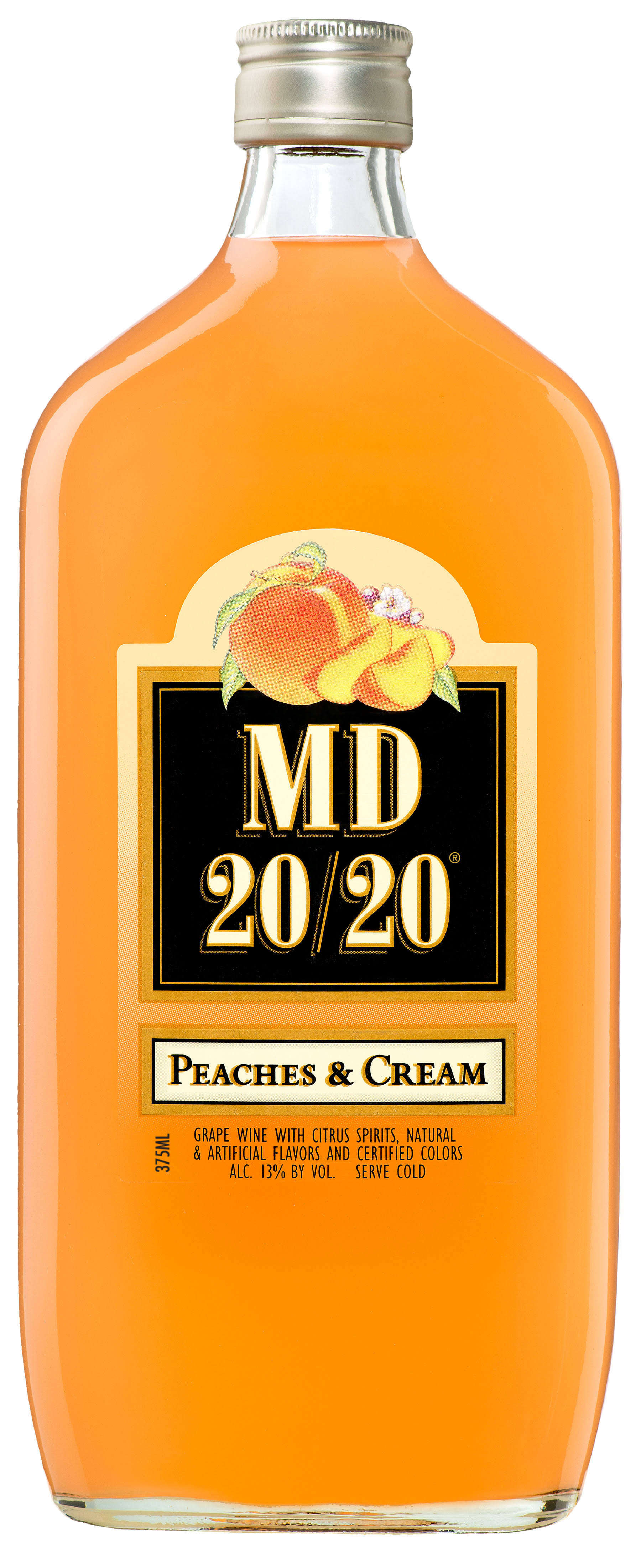 MD 20/20 Peaches and Cream Flavored Wine - 375ml