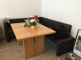 sitzecke esszimmer mit ausziehbarem tisch und sitzbank