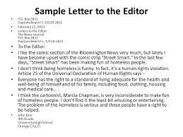 letter to the editor template for students 28 images format