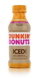 Dunkin Donuts Presents Pumpkin Spice Bottled Iced Coffee For A New On The