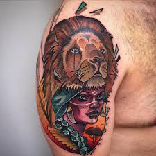 Woman With Lion Head