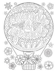 Good Vibes Coloring Book Onwards And Upwards Page By Thaneeya