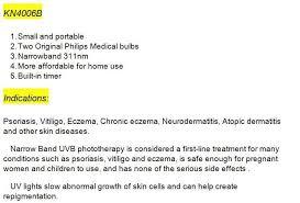 Narrow Band Uvb Lamp For Psoriasis by Vitiligo Psoriasis Dermatitis Narrow Band 311nm Uvb 9w Lamp