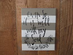 Accessories Home Christian Canvas Wall Art Craft Hand Lettered Soul Quote Striped Handmade Item Materials Paint