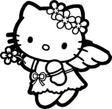 Best Hello Kitty Coloring Pages Images Birthday Printable Happy For Kids Sheets