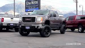 100 Lifted Trucks For Sale In Utah 2007 GMC Sierra 2500HD SLT Brown Black Wheel Duramax