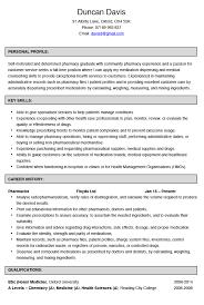 Curriculum Vitae Pharmacy Filename